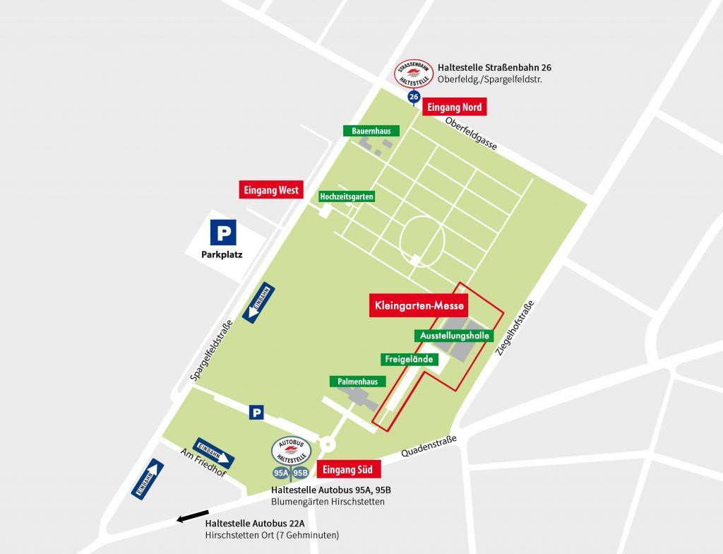Anfahrtsplan Wiener Kleingarten Messe